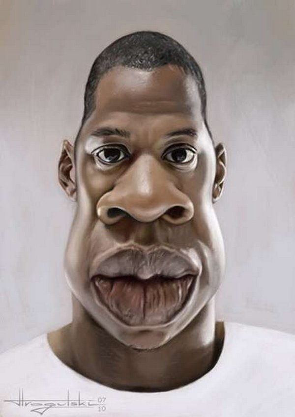 caricatures 02 Funny Caricatures of Celebrities by Patrick Strogulski