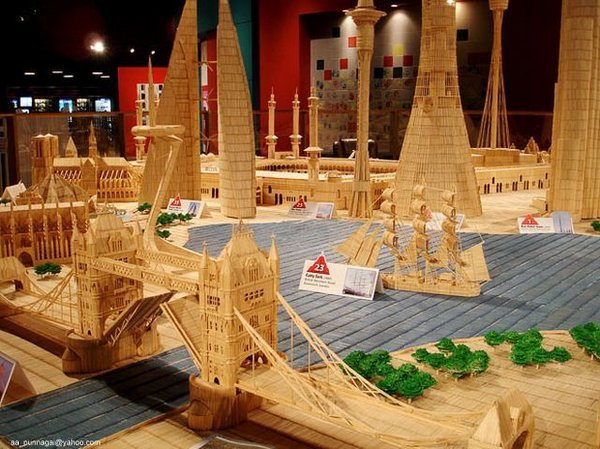 toothpicks 01 A Miniature City Made out of Millions of Toothpicks