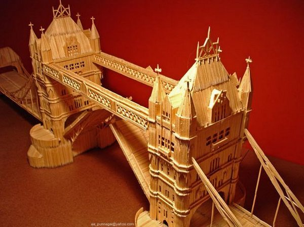 toothpicks 10 A Miniature City Made out of Millions of Toothpicks