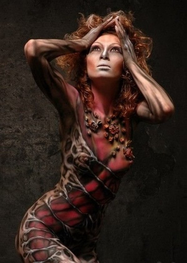 body painting art 33 Incredible Painting on Human Body