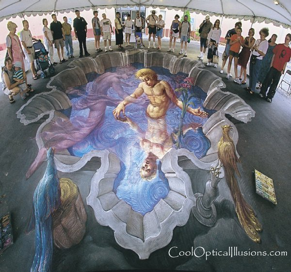 sidewalk artist 08 Extraordinary 3D Sidewalk Art Photos