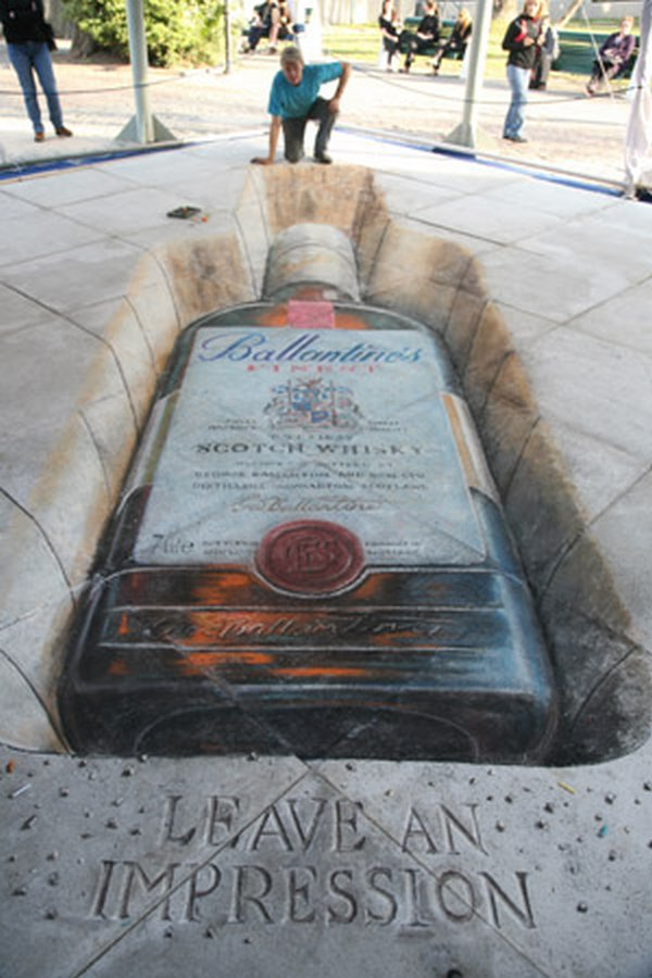 sidewalk artist 09 Extraordinary 3D Sidewalk Art Photos