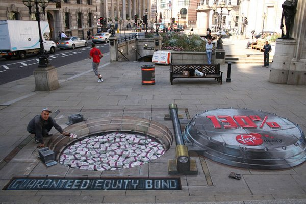 sidewalk artist 10 Extraordinary 3D Sidewalk Art Photos