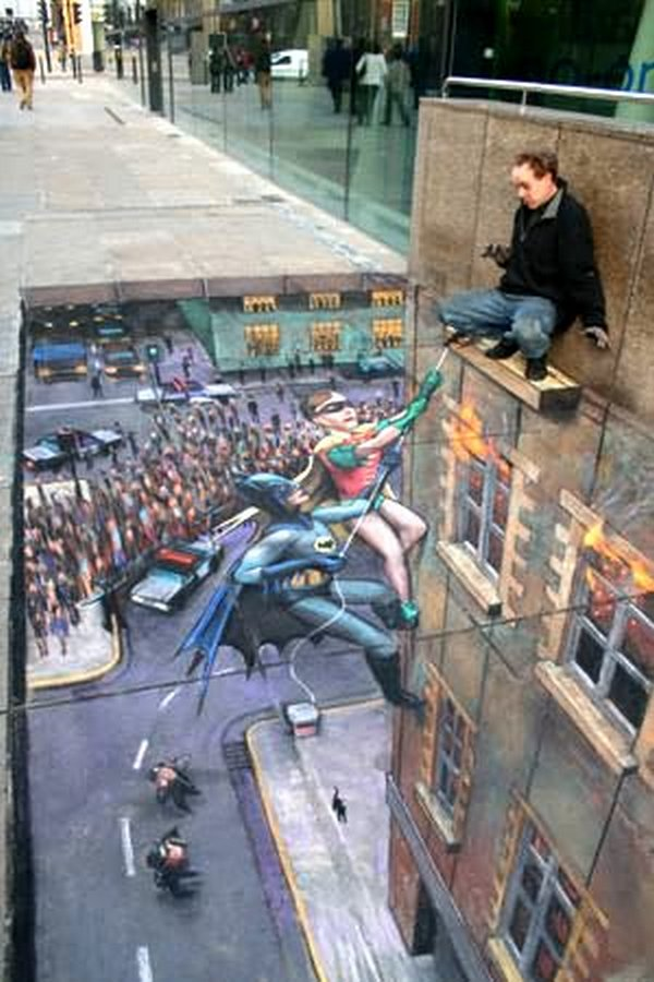 sidewalk artist 11 Extraordinary 3D Sidewalk Art Photos