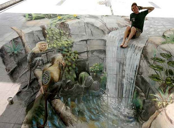 sidewalk artist 21 Extraordinary 3D Sidewalk Art Photos