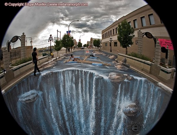 sidewalk artist 24 Extraordinary 3D Sidewalk Art Photos