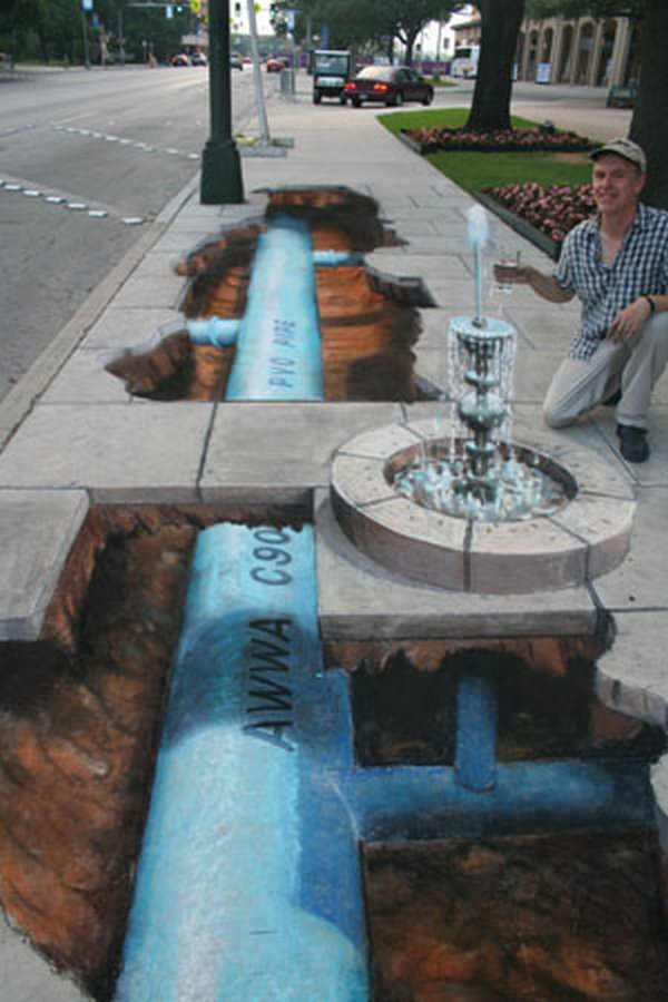 sidewalk artist 25 Extraordinary 3D Sidewalk Art Photos