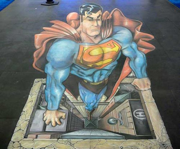 sidewalk artist 27 Extraordinary 3D Sidewalk Art Photos