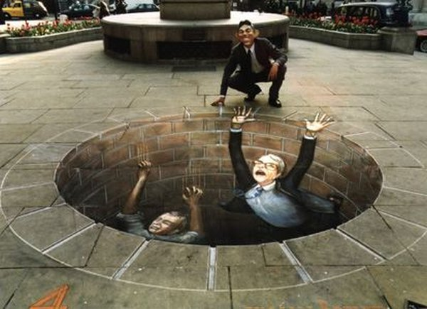 sidewalk artist 29 Extraordinary 3D Sidewalk Art Photos