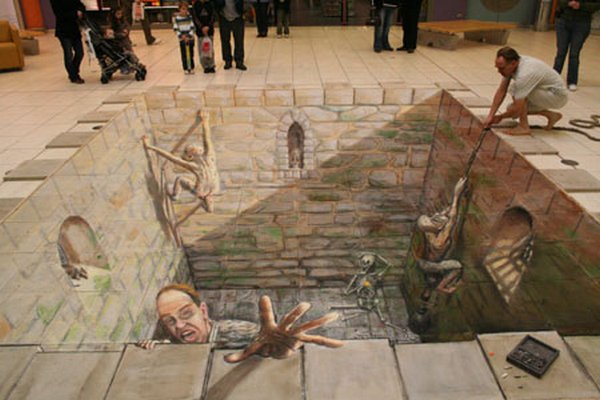 sidewalk artist 32 Extraordinary 3D Sidewalk Art Photos