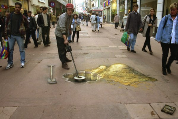 sidewalk artist 36 Extraordinary 3D Sidewalk Art Photos