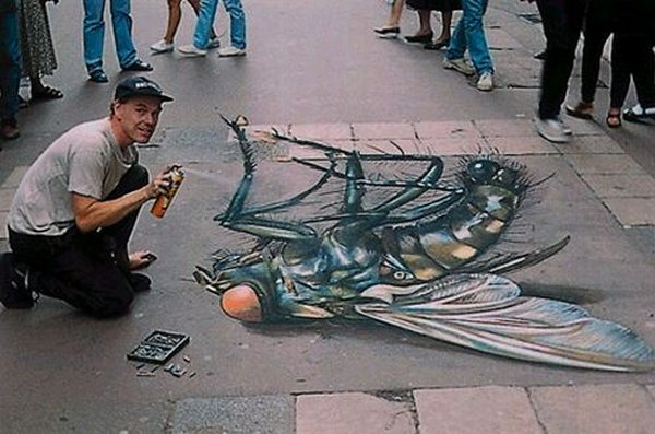 sidewalk artist 38 Extraordinary 3D Sidewalk Art Photos