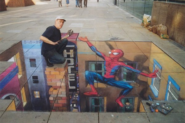 sidewalk artist 39 Extraordinary 3D Sidewalk Art Photos