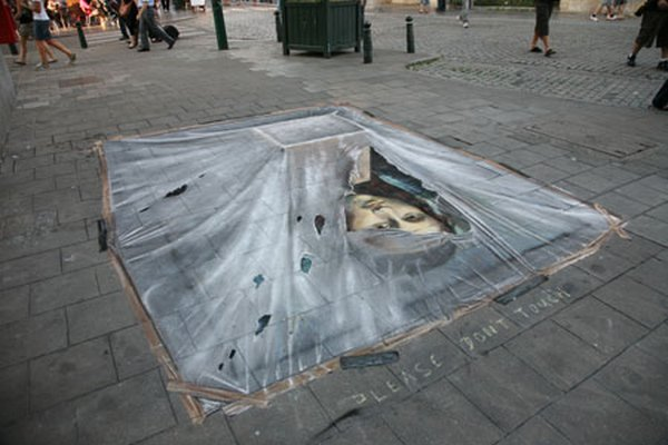 sidewalk artist 40 Extraordinary 3D Sidewalk Art Photos