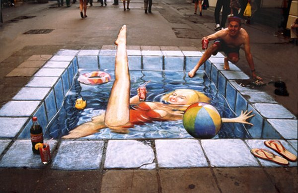 sidewalk artist 41 Extraordinary 3D Sidewalk Art Photos