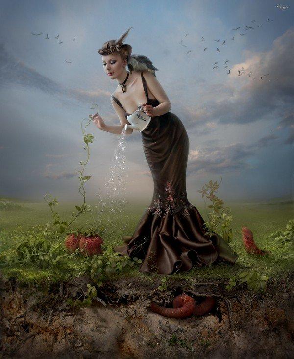 fairytale art by cornacchia 02 Grown up Fairytale Heroines by Cornacchia