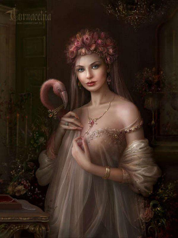 fairytale art by cornacchia 04 Grown up Fairytale Heroines by Cornacchia