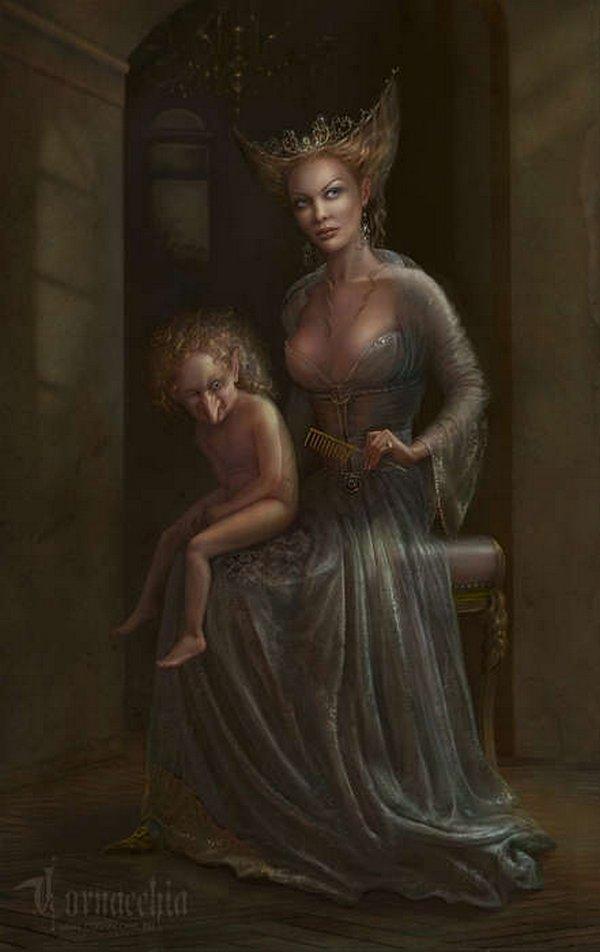 fairytale art by cornacchia 07 Grown up Fairytale Heroines by Cornacchia