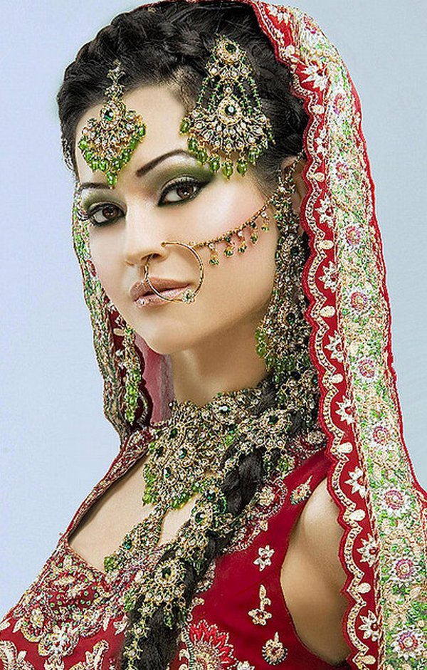 indian brides 16 Lovely & Gorgeous Beauty Of Indian Brides