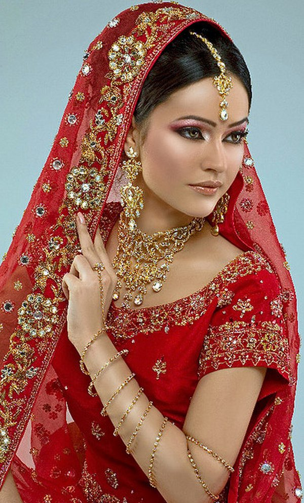 indian brides 17 Lovely & Gorgeous Beauty Of Indian Brides