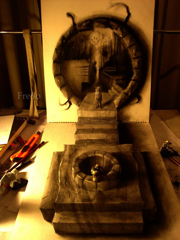 3d drawings by fredo 03 20 Unbelievable 3D Drawings By 18 Year Old Boy