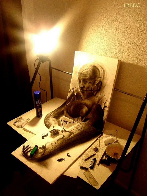 3d drawings by fredo 10 20 Unbelievable 3D Drawings By 18 Year Old Boy 