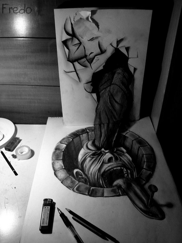 3d drawings by fredo 14 20 Unbelievable 3D Drawings By 18 Year Old Boy