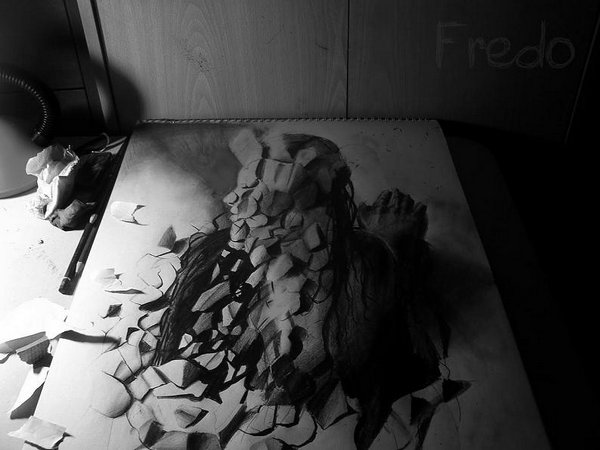 3d drawings by fredo 16 20 Unbelievable 3D Drawings By 18 Year Old Boy