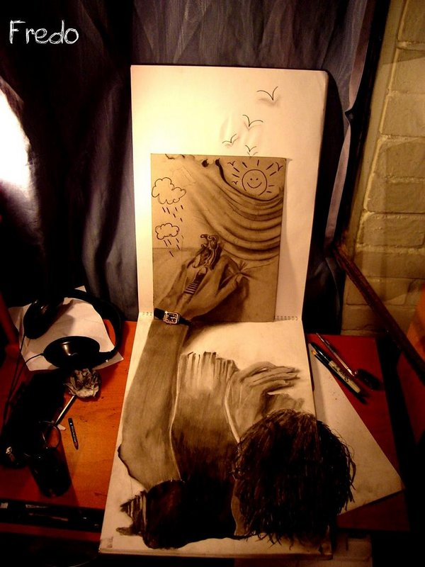 3d drawings by fredo 18 20 Unbelievable 3D Drawings By 18 Year Old Boy