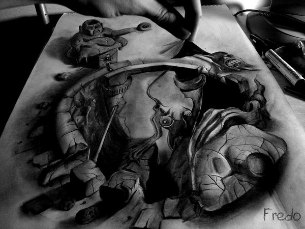 3d drawings by fredo 20 20 Unbelievable 3D Drawings By 18 Year Old Boy