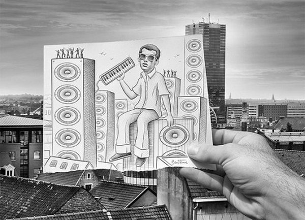 ben heine 22 Pencil VS Camera By Ben Heine