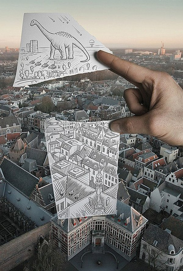 ben heine 32 Pencil VS Camera By Ben Heine