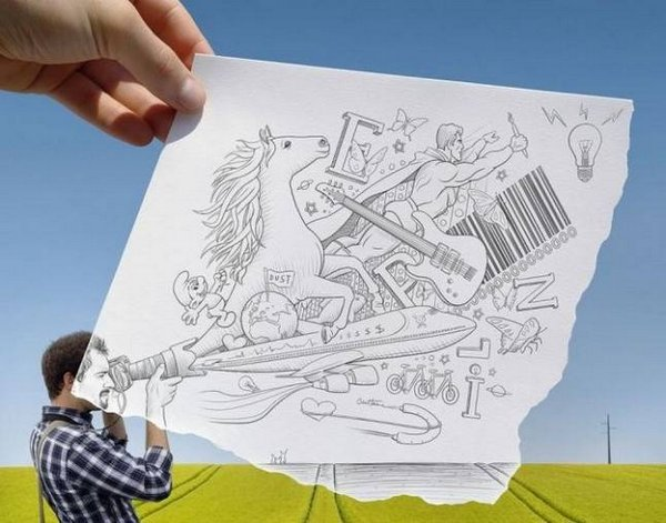 ben heine 33 Pencil VS Camera By Ben Heine