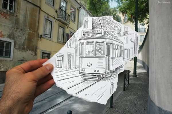 ben heine 35 Pencil VS Camera By Ben Heine