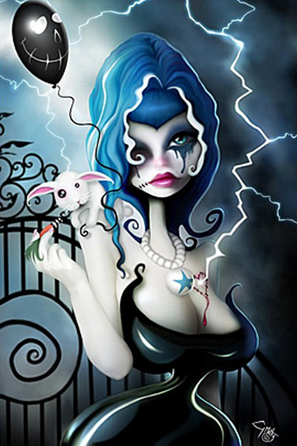 pin up illustrations 07 Provocative But Creepy Pin Up Girls Illustrations