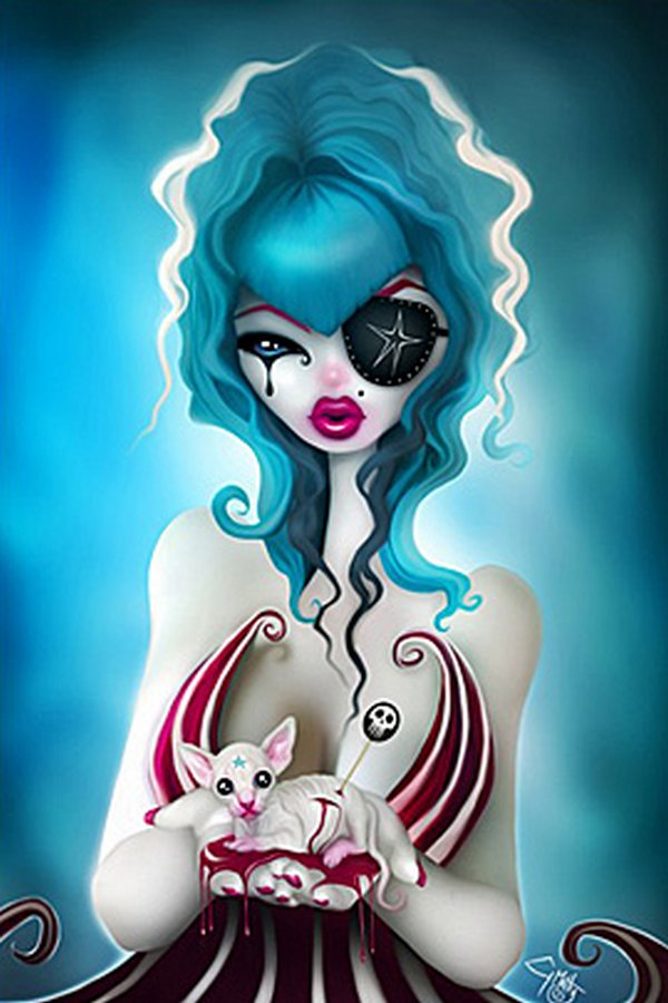 pin up illustrations 14 Provocative But Creepy Pin Up Girls Illustrations