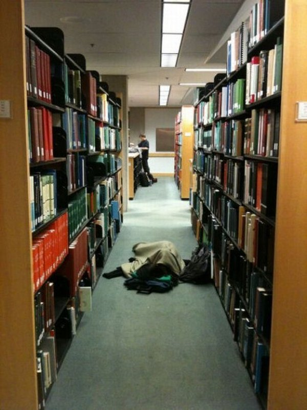 sleeping in library 14 Sleeping In The Library