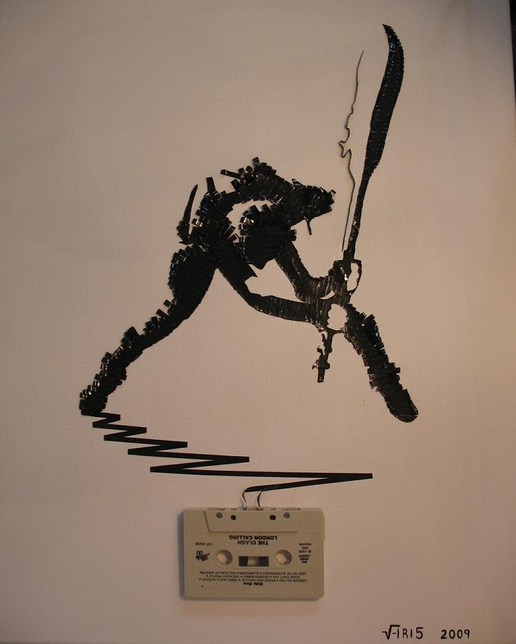 tape art by erika iris simmons 06 Unbelievable Tape Art Like Youve Never Seen Before