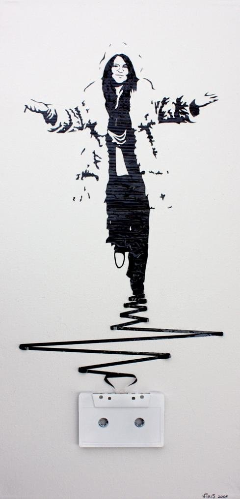 tape art by erika iris simmons 12 Unbelievable Tape Art Like Youve Never Seen Before