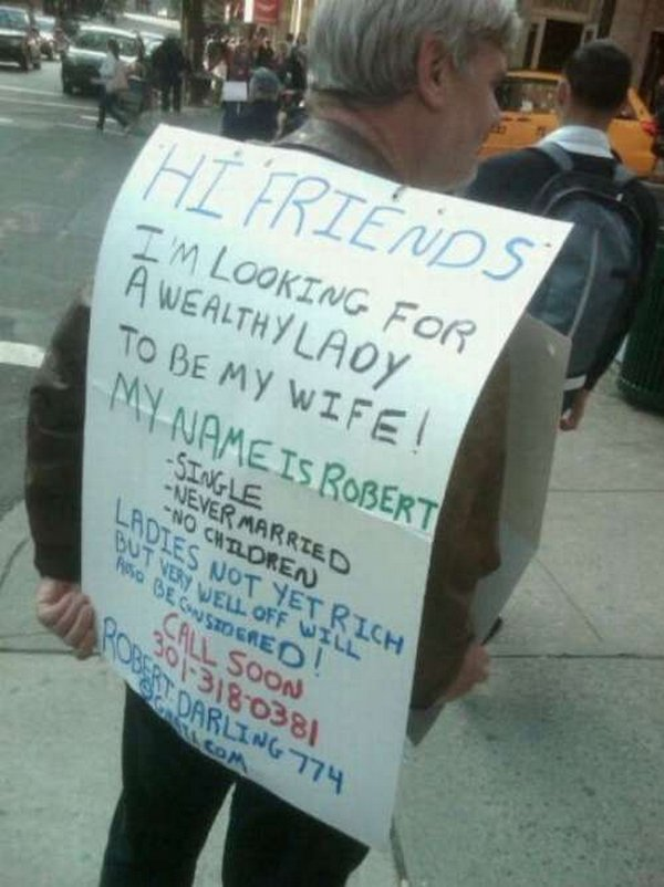 homeless signs 12 Creative Hilarious But Sad Homeless Signs