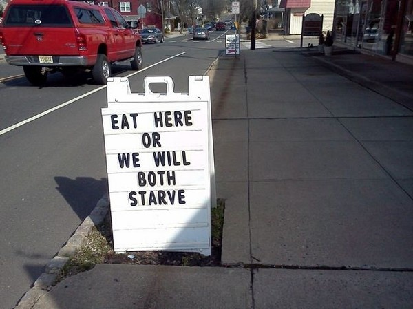 funny restaurant signs 10 Top 11 Funniest Restaurant Signs