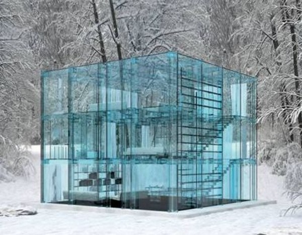 modern glass house 01 Top 10 Modern Dream Houses Made of Glass