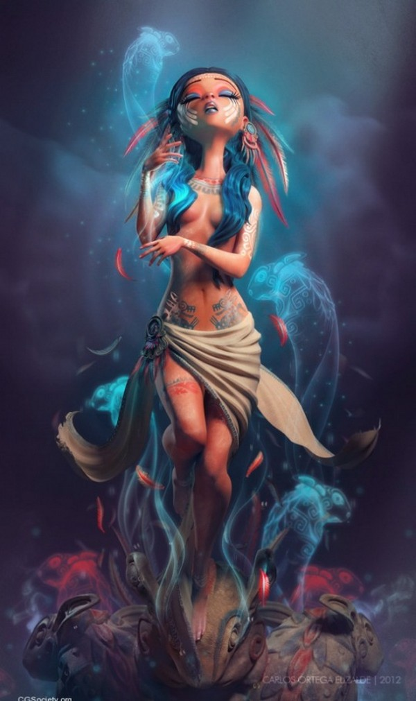 the weeping woman 01 3D Art: Caricatures Appear to be Alive by Carlos Ortega Elizalde