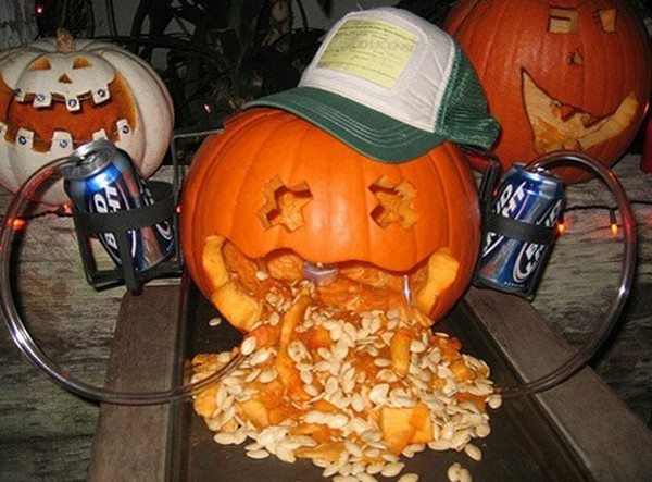 drunk pumpkins 14 Pumpkins + Alcohol = Not Feeling So Good