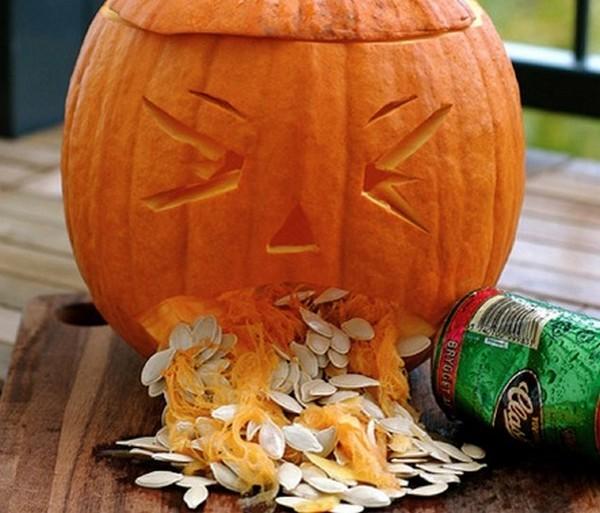 drunk pumpkins 16 Pumpkins + Alcohol = Not Feeling So Good