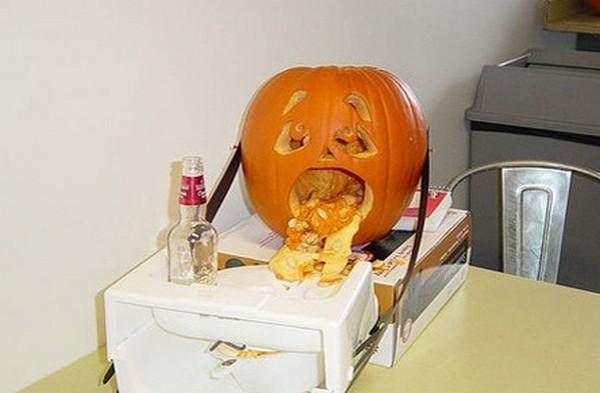 drunk pumpkins 17 Pumpkins + Alcohol = Not Feeling So Good