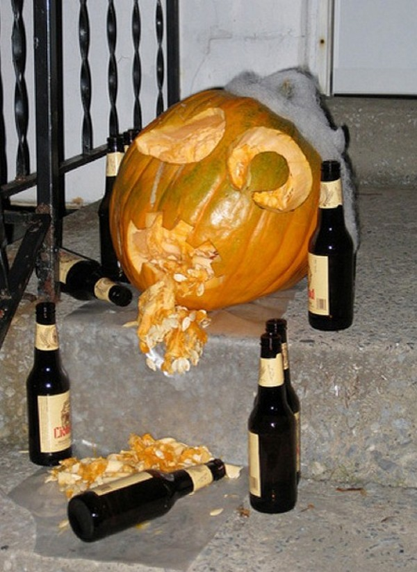 drunk pumpkins 18 Pumpkins + Alcohol = Not Feeling So Good
