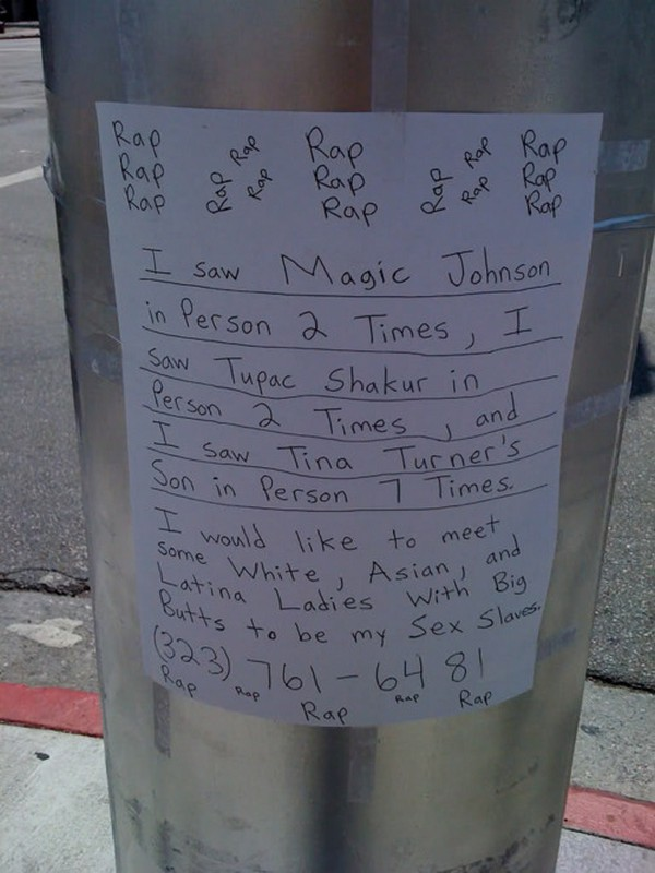 funniest signs on telephone poles 10 Top 10 Funniest Signs on Telephone Poles