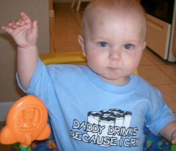 hilarious baby t shirts 13 Hilarious Baby T Shirts