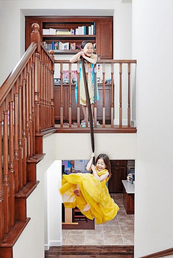 creative dad takes crazy photos of daughters 09 Creative Dad Takes Crazy Photos Of Daughters